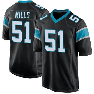 Youth Nike Carolina Panthers Sam Mills Black Team Color Jersey - Game