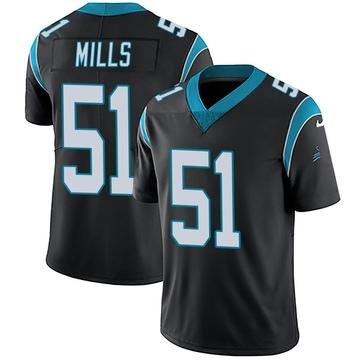 Youth Nike Carolina Panthers Sam Mills Black Team Color Vapor Untouchable Jersey - Limited