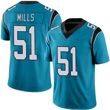 Youth Nike Carolina Panthers Sam Mills Blue Alternate Vapor Untouchable Jersey - Limited