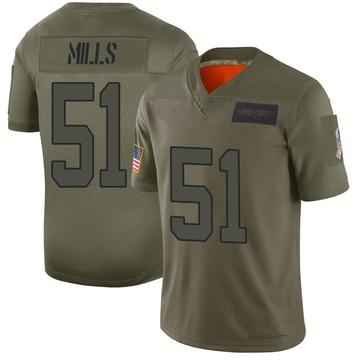 Youth Nike Carolina Panthers Sam Mills Camo 2019 Salute to Service Jersey - Limited