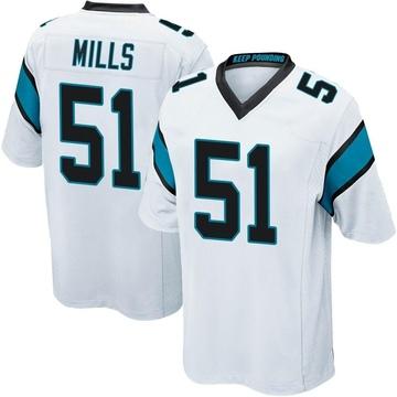 Youth Nike Carolina Panthers Sam Mills White Jersey - Game