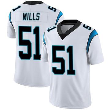 Youth Nike Carolina Panthers Sam Mills White Vapor Untouchable Jersey - Limited