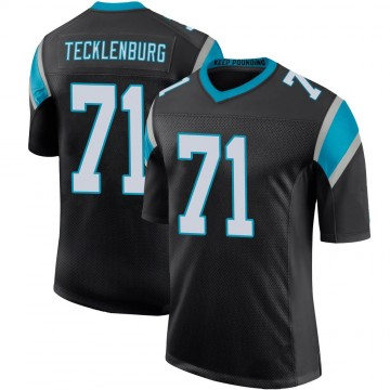 Youth Nike Carolina Panthers Sam Tecklenburg Black Team Color 100th Vapor Untouchable Jersey - Limited