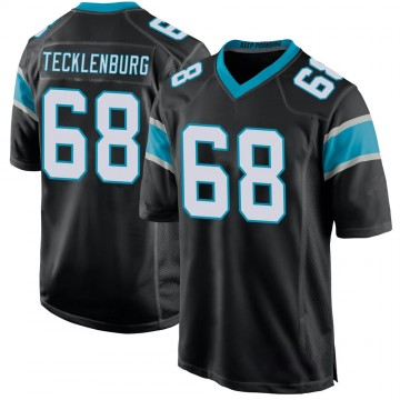 Youth Nike Carolina Panthers Sam Tecklenburg Black Team Color Jersey - Game