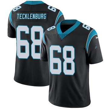 Youth Nike Carolina Panthers Sam Tecklenburg Black Team Color Vapor Untouchable Jersey - Limited