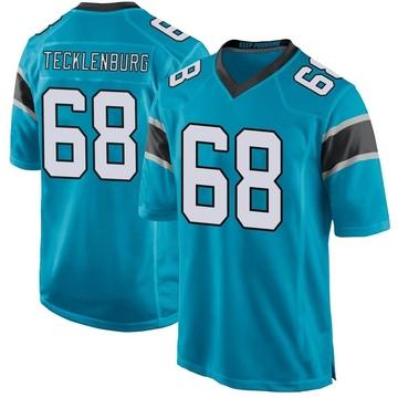 Youth Nike Carolina Panthers Sam Tecklenburg Blue Alternate Jersey - Game
