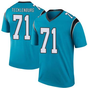 Youth Nike Carolina Panthers Sam Tecklenburg Blue Color Rush Jersey - Legend
