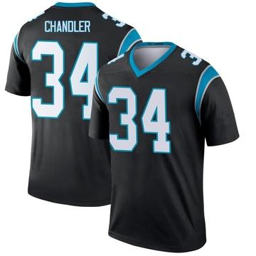 Youth Nike Carolina Panthers Sean Chandler Black Jersey - Legend