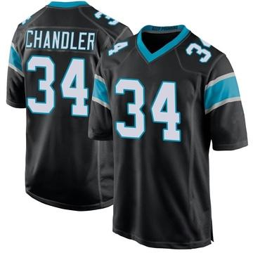 Youth Nike Carolina Panthers Sean Chandler Black Team Color Jersey - Game