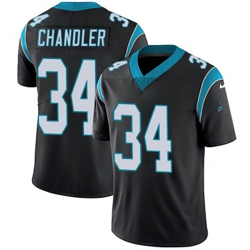 Youth Nike Carolina Panthers Sean Chandler Black Team Color Vapor Untouchable Jersey - Limited
