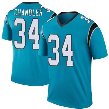 Youth Nike Carolina Panthers Sean Chandler Blue Color Rush Jersey - Legend
