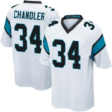Youth Nike Carolina Panthers Sean Chandler White Jersey - Game
