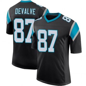 Youth Nike Carolina Panthers Seth DeValve Black Team Color 100th Vapor Untouchable Jersey - Limited