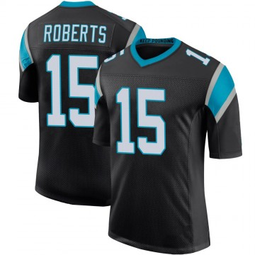 Youth Nike Carolina Panthers Seth Roberts Black Team Color 100th Vapor Untouchable Jersey - Limited