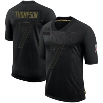Youth Nike Carolina Panthers Shaq Thompson Black 2020 Salute To Service Jersey - Limited