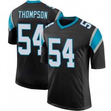 Youth Nike Carolina Panthers Shaq Thompson Black Team Color 100th Vapor Untouchable Jersey - Limited