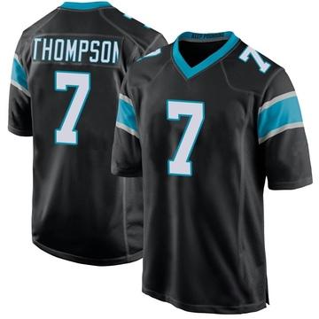 Youth Nike Carolina Panthers Shaq Thompson Black Team Color Jersey - Game