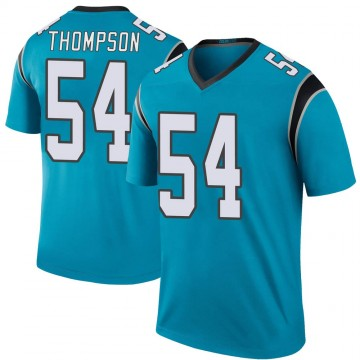 Youth Nike Carolina Panthers Shaq Thompson Blue Color Rush Jersey - Legend