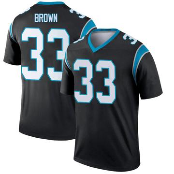 Youth Nike Carolina Panthers Spencer Brown Black Jersey - Legend