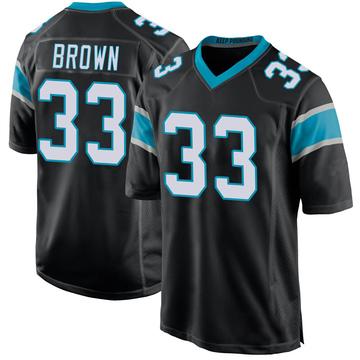 Youth Nike Carolina Panthers Spencer Brown Black Team Color Jersey - Game