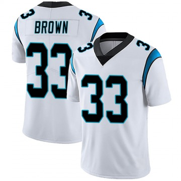 Youth Nike Carolina Panthers Spencer Brown White Vapor Untouchable Jersey - Limited