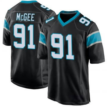 Youth Nike Carolina Panthers Stacy McGee Black Team Color Jersey - Game