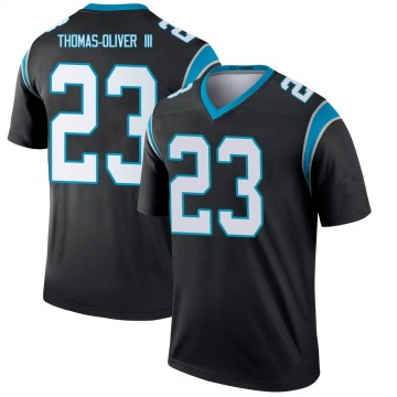 Youth Nike Carolina Panthers Stantley Thomas-Oliver III Black Jersey - Legend