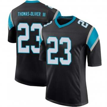 Youth Nike Carolina Panthers Stantley Thomas-Oliver III Black Team Color 100th Vapor Untouchable Jersey - Limited