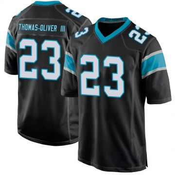 Youth Nike Carolina Panthers Stantley Thomas-Oliver III Black Team Color Jersey - Game