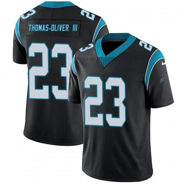 Youth Nike Carolina Panthers Stantley Thomas-Oliver III Black Team Color Vapor Untouchable Jersey - Limited