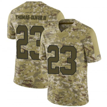 Youth Nike Carolina Panthers Stantley Thomas-Oliver III Camo 2018 Salute to Service Jersey - Limited