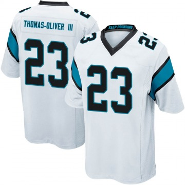 Youth Nike Carolina Panthers Stantley Thomas-Oliver III White Jersey - Game