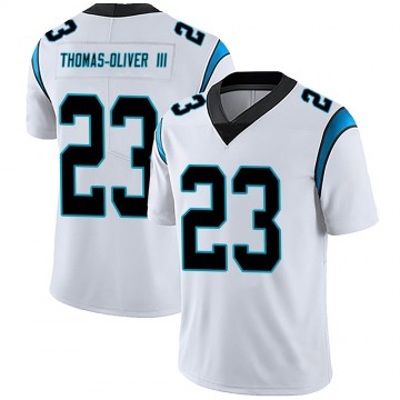 Youth Nike Carolina Panthers Stantley Thomas-Oliver III White Vapor Untouchable Jersey - Limited