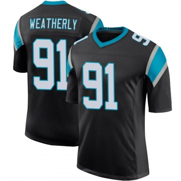 Youth Nike Carolina Panthers Stephen Weatherly Black Team Color 100th Vapor Untouchable Jersey - Limited