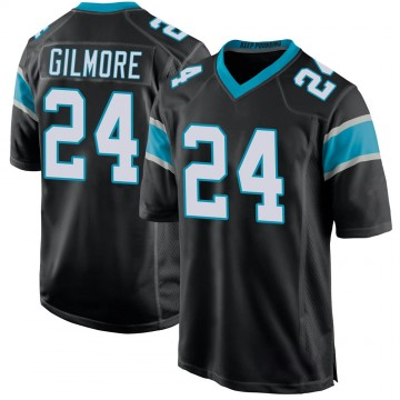 Youth Nike Carolina Panthers Stephon Gilmore Black Team Color Jersey - Game