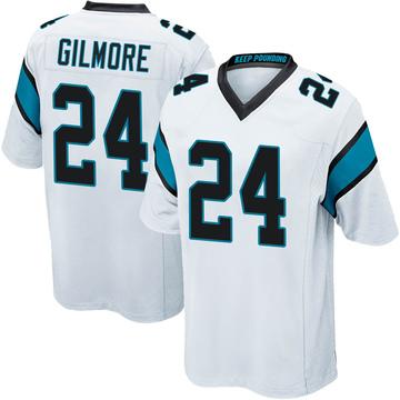 Youth Nike Carolina Panthers Stephon Gilmore White Jersey - Game