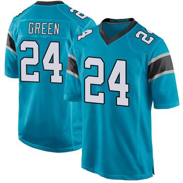 Youth Nike Carolina Panthers T.J. Green Blue Alternate Jersey - Game