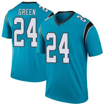 Youth Nike Carolina Panthers T.J. Green Blue Color Rush Jersey - Legend