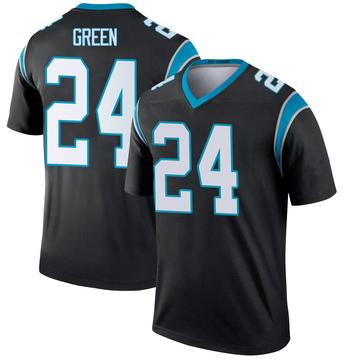 Youth Nike Carolina Panthers T.J. Green Green Black Jersey - Legend