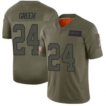 Youth Nike Carolina Panthers T.J. Green Green Camo 2019 Salute to Service Jersey - Limited