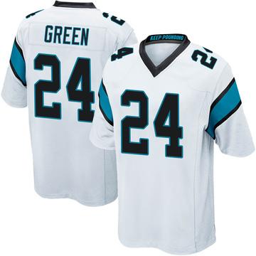 Youth Nike Carolina Panthers T.J. Green White Jersey - Game