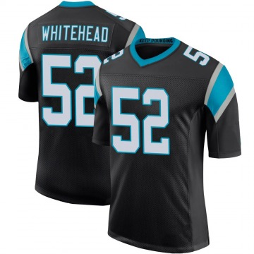 Youth Nike Carolina Panthers Tahir Whitehead White Black Team Color 100th Vapor Untouchable Jersey - Limited