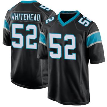 Youth Nike Carolina Panthers Tahir Whitehead White Black Team Color Jersey - Game