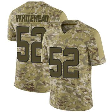 Youth Nike Carolina Panthers Tahir Whitehead White Camo 2018 Salute to Service Jersey - Limited