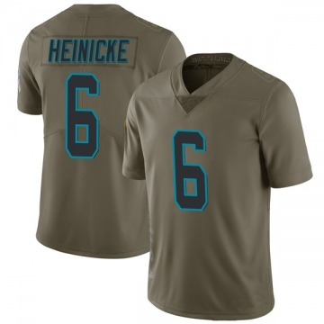 Youth Nike Carolina Panthers Taylor Heinicke Green 2017 Salute to Service Jersey - Limited