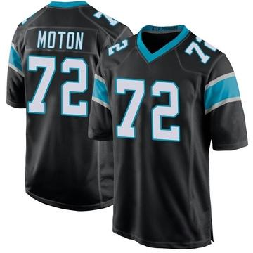 Youth Nike Carolina Panthers Taylor Moton Black Team Color Jersey - Game