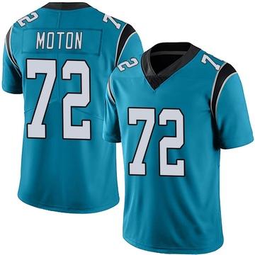 Youth Nike Carolina Panthers Taylor Moton Blue Alternate Vapor Untouchable Jersey - Limited