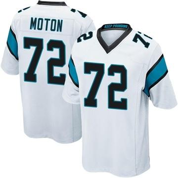 Youth Nike Carolina Panthers Taylor Moton White Jersey - Game
