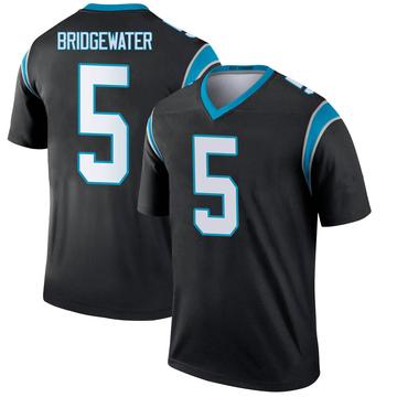 Youth Nike Carolina Panthers Teddy Bridgewater Black Jersey - Legend