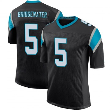 Youth Nike Carolina Panthers Teddy Bridgewater Black Team Color 100th Vapor Untouchable Jersey - Limited